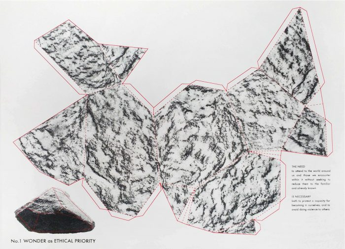 """Meghan Price, Wonder As Ethical Priority, 2016, screenprint, 11"""" x 14"""", edition of 25"""
